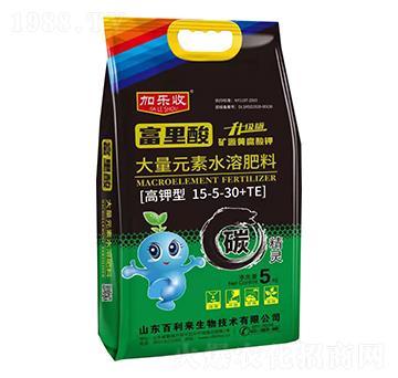 高钾型大量元素水溶肥料15-5-30+TE 加乐收 百利来