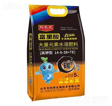 高钾型大量元素水溶肥料14-6-38+TE 加乐收 百利来