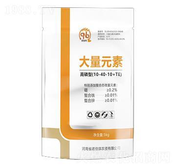 高磷型大量元素水溶肥10-40-10+TE-诺倍琪
