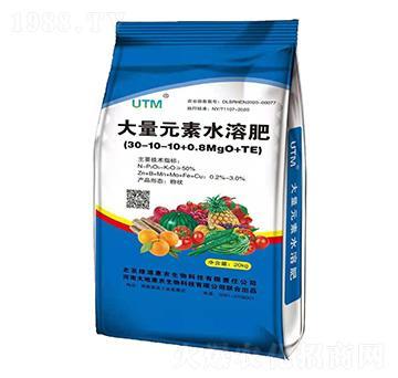 大量元素水溶肥料30-10-10+0.8MgO+TE-大地惠农