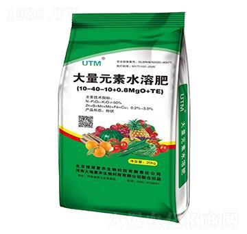 大量元素水溶肥料10-40-10+0.8MgO+TE-大地惠农